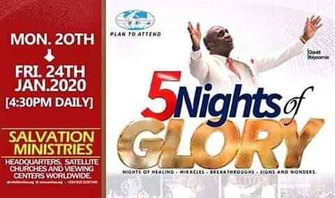 5 Nights Of Glory 20th - 24th January 2020