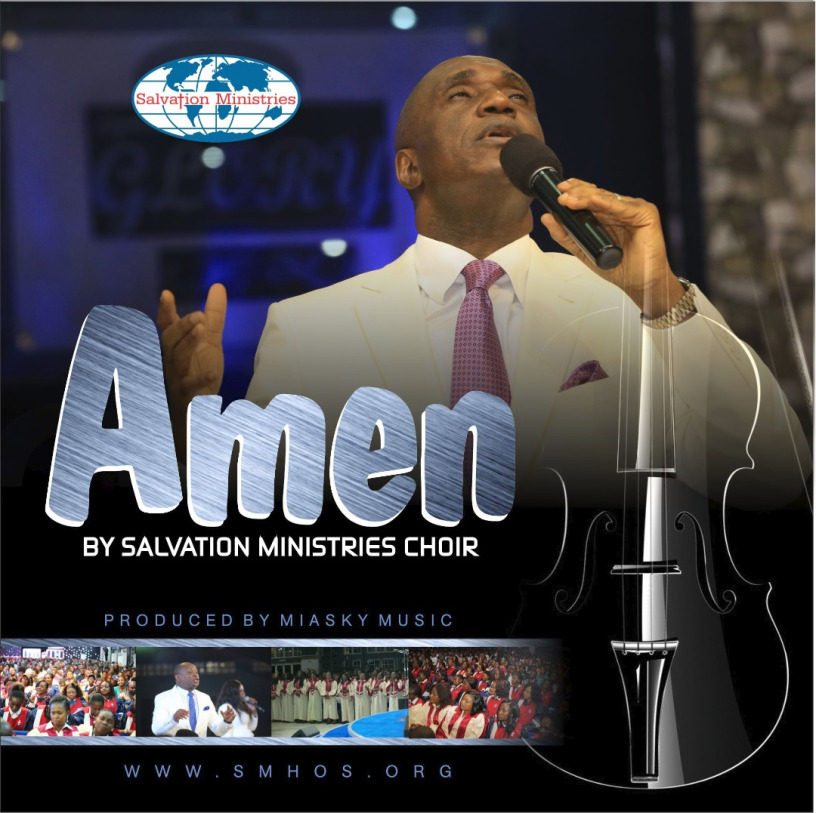Salvation ministries choir singing Amen with David Ibiyeomie holding a microphone